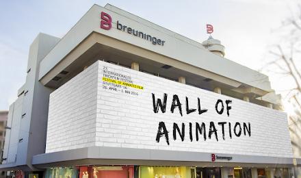 Breuninger - Wall of Animation für die ITFS | UrbanArt Projekt auf dem 23. Internationalen Trickfilm-Festival | ANZEIGE