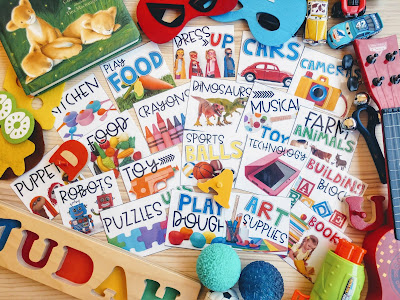 Real Picture Organization Labels for Home and Classroom