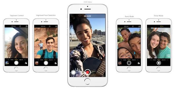 iPhone 6s Plus selfies