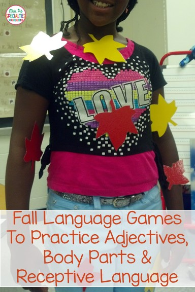 FREE language activities perfect for fall! Target receptive language, adjectives and body parts with these two activities.
