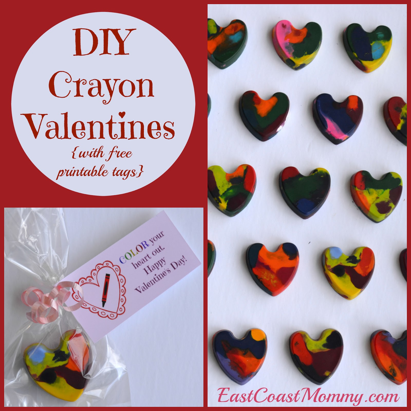 east coast mommy crayon valentines with free printable tags