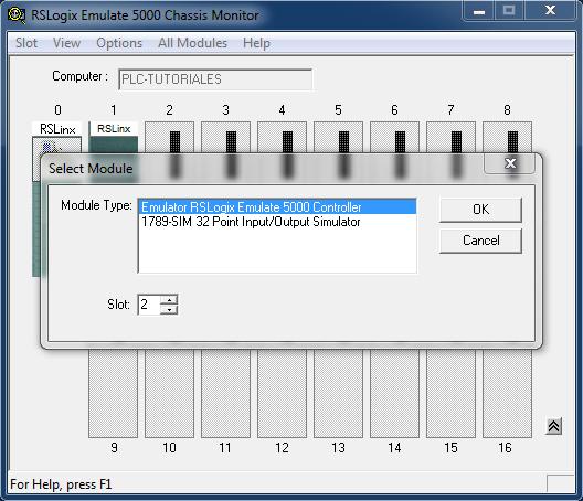 Seleccionar PLC RSLogix Emulate 5000