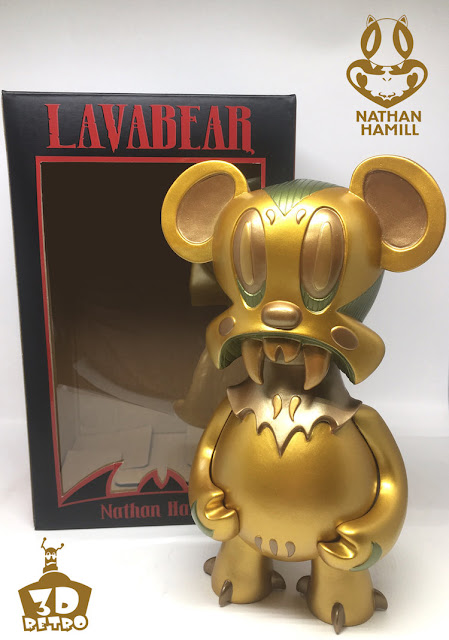 Shanghai Comic Con 2016 Exclusive Bronze Edition Lavabear Vinyl Figure by Nathan Hamill