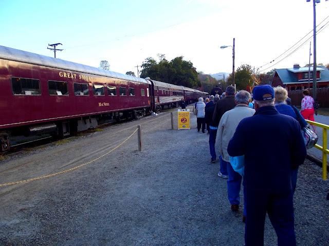 Riding the Great Smokey Mountain Railroad