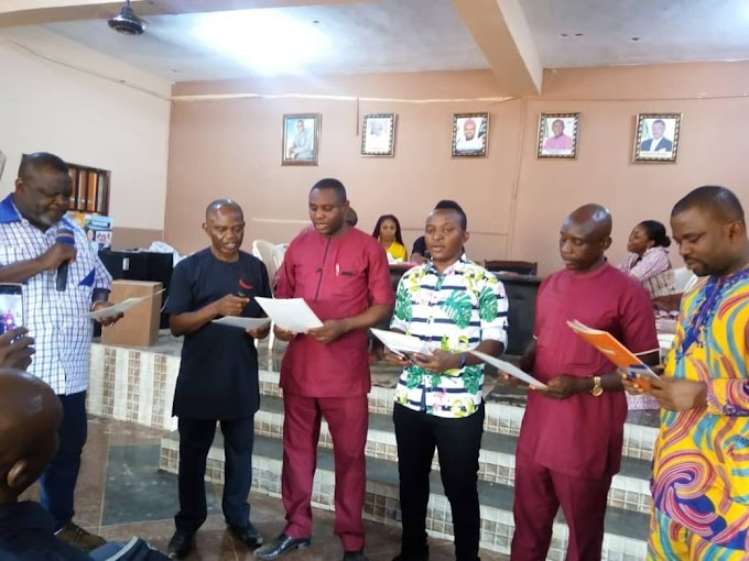 NUJ ANAMBRA COUNCIL INAUGURATES NEW EXCO