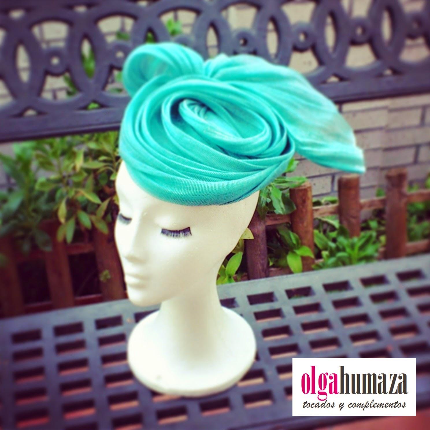 http://olgahumaza.blogspot.com.es/2015/02/b49-tocado-turbante-seda-verde.html