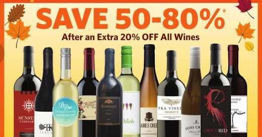 Get 20% off wine at Grocery Outlet