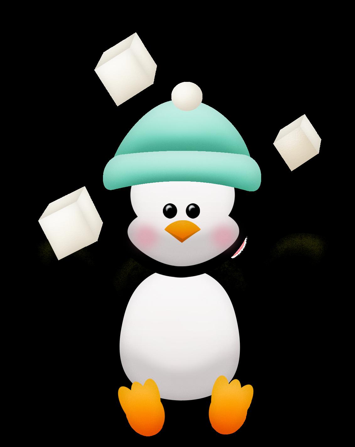 Pingüinos y Flores del Clipart ¡Que viva el Invierno! | Ideas y ...