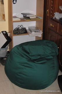 new green beanbag