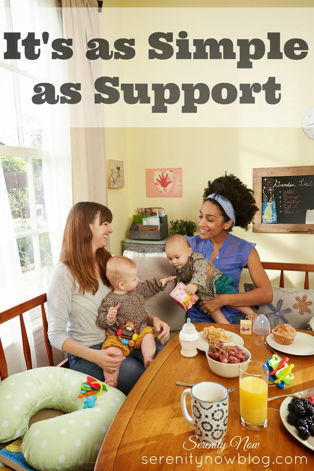 How to Support Other Moms, Even When Their Parenting Styles are Different- from Serenity Now #sisterhoodunite #parentsfirst