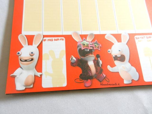 Calendrier S'organiser en famille avec The lapins crétins (Présentation & Avis)