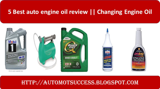 5 Best auto engine oil review || Changing Engine Oil