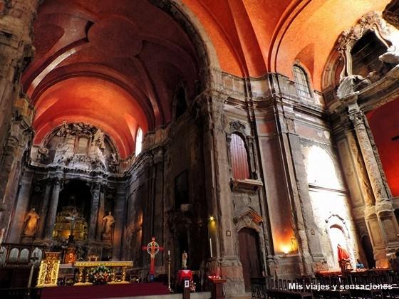 Interior de la Iglesia de Sao Domingo, Barrio de la Baixa, Lisboa, Portugal