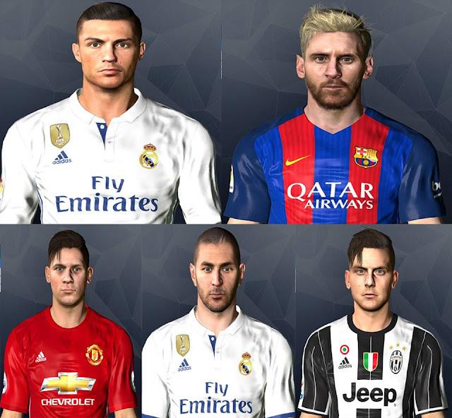 Ultigamerz: PES 2017 FIFA 17 Converted Facepack