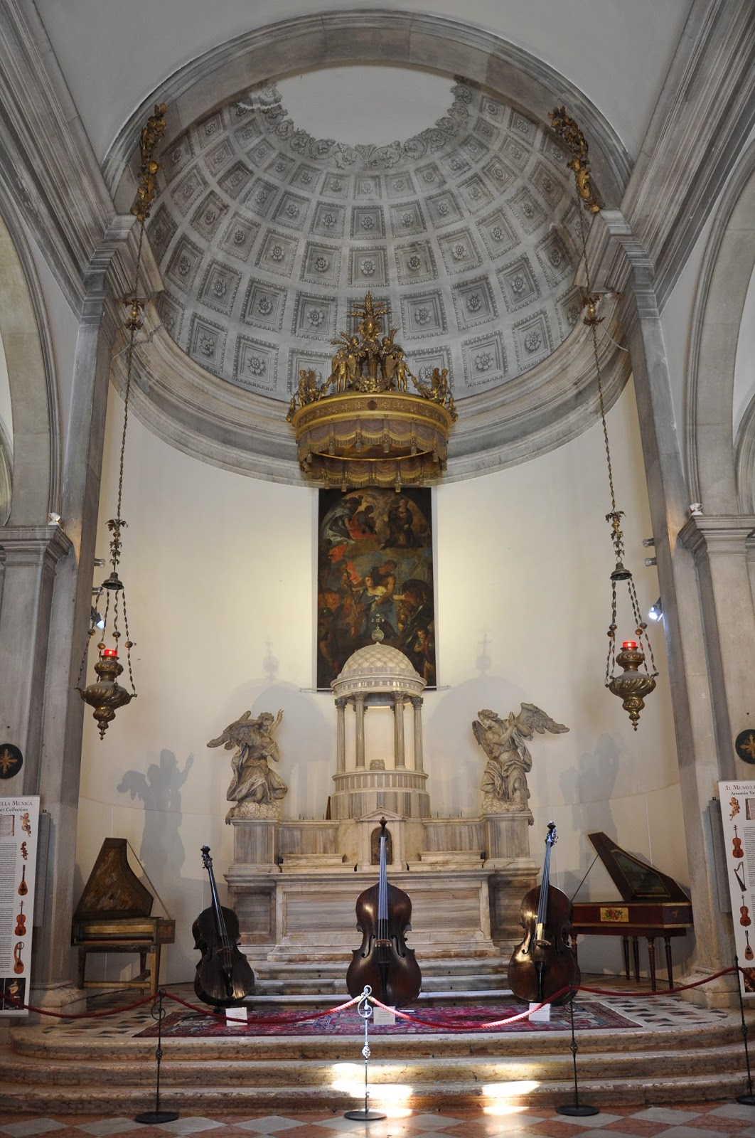 The music altar, Museum of the Music, Venice, Italy