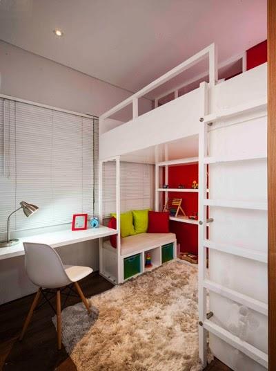 Interior Pilihan Desain Kamar Tidur Anak Yang Sempit Dengan Bunk Bed