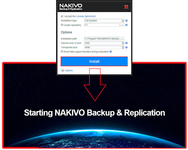 Instalación NAKIVO Backup & Replication.