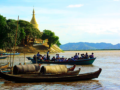 Bagan Irrawaddy River Boats Jetty