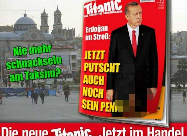 Majalah Titanic hina erdogan