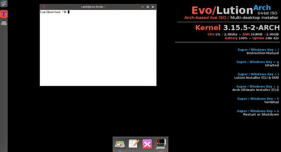 Evo / Lution distro based on Arch Linux Installer with Cnchi - The