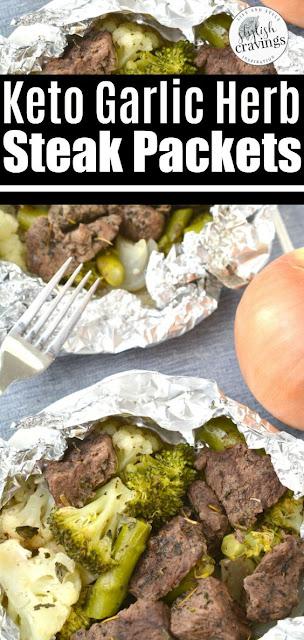 KETO STEAK FOIL PACKETS - Steak Recipes Easy