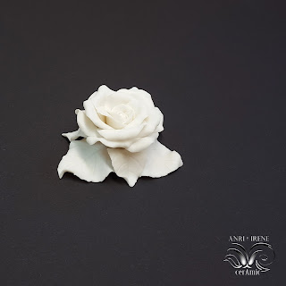 Ceramic porcelain rose