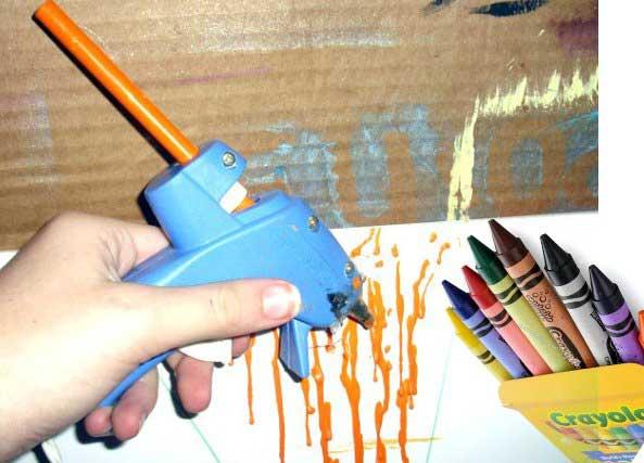 Silicona caliente cola termofusible con pistola para manualidades