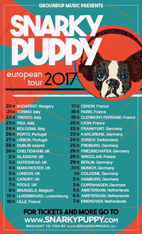 Snarky Puppy European Tour 2017