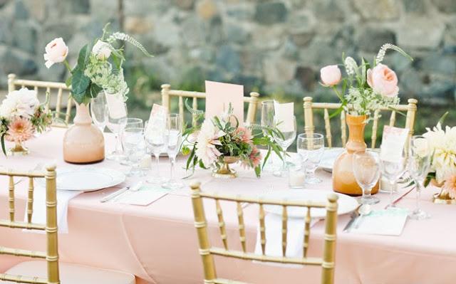 Decoración de boda rosa y verde menta - Boda elegante y alegre 4