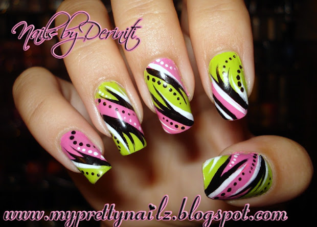 pretty nailz bright pink &