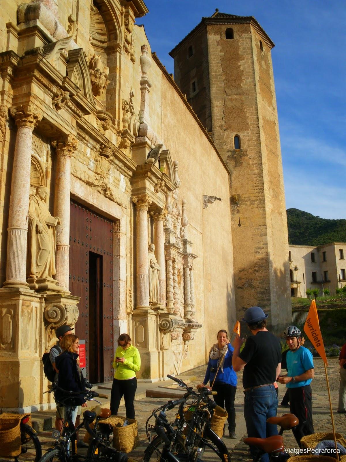 Portada de l'església del Monestir cistercenc de Poblet Vimbodí Conca de Barberà
