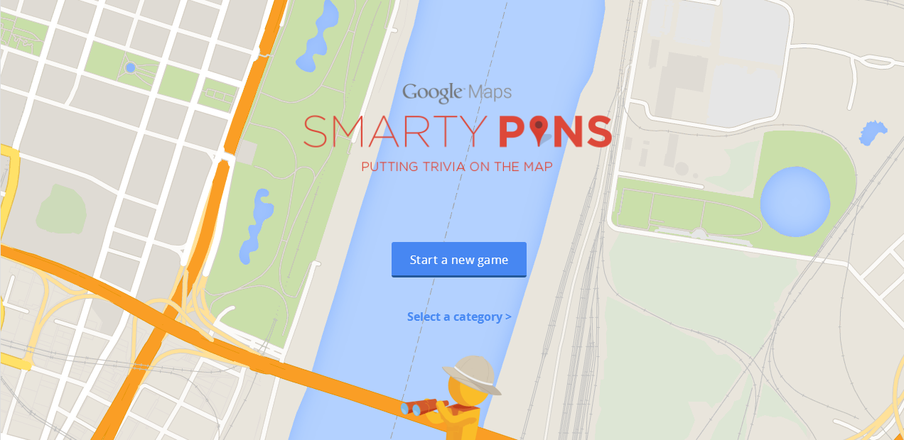 Test Your General Knowledge in Google Maps with Smarty Pins