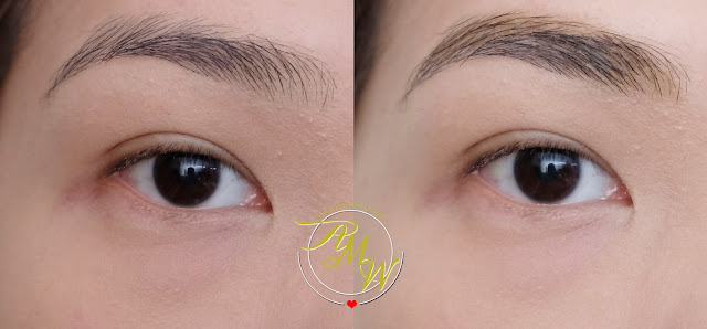 before and after photo of Revlon Colorstay Brow Crayon Review