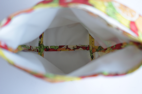 how to sew a basic lunch sack, free pattern