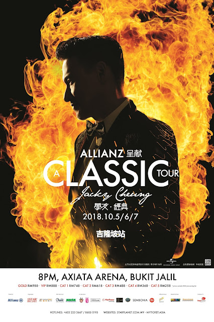 Win Yourself Jacky Cheung A Classic Tour from Allianz Malaysia