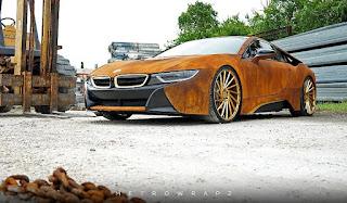 Kamuflase-Futuristis-BMW-i8-yang-Seolah-Berkarat