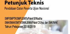 Juknis Pendataan Calon Peserta Ujian Nasional Jenjang SMP Dan SMA Sederajat Tahun 2018/2019
