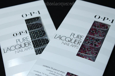 OPI Pure Lacquer Nail Apps Sequins & Girly Glam Review