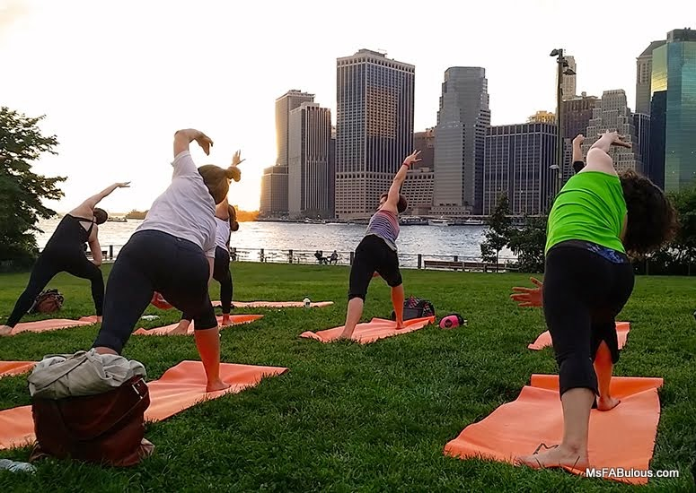yoga nyc skyline
