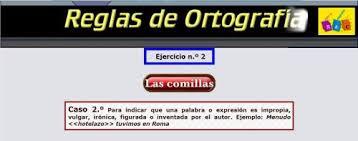 http://www.reglasdeortografia.com/comillas02.html