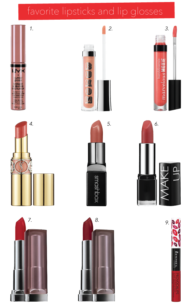 Favorite Lipstick and Lip Glosses {Happy National Lipstick Day!} // A Style Caddy