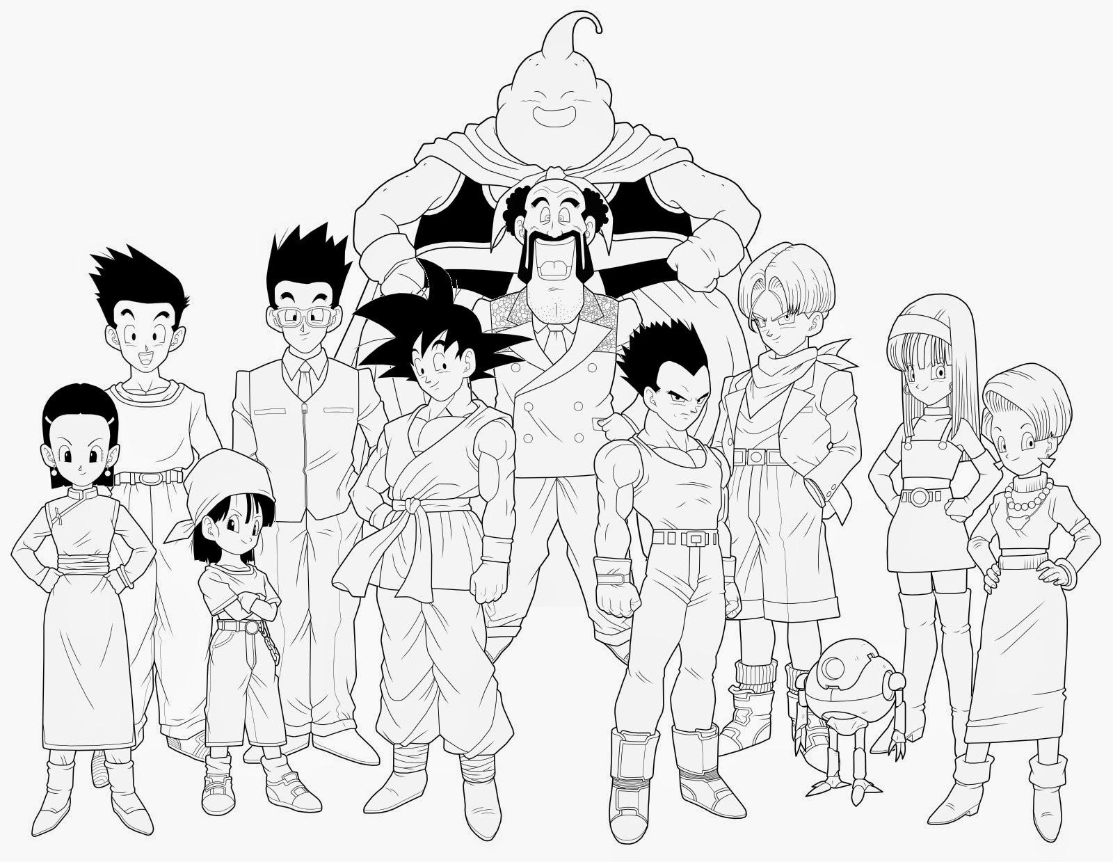 Desenho De Saiyan Para Colorir: Desenhos Para Colorir E Imprimir: Desenhos Do Dragon Ball