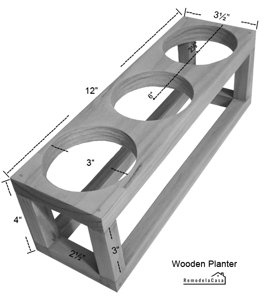 dimensions for wooden stand