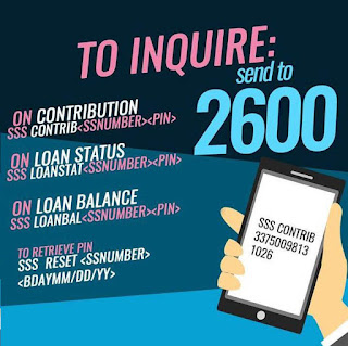 SSS Inquiry Text to 2600