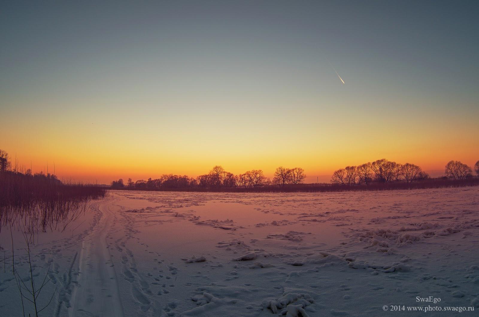 Закат на реке Ижора