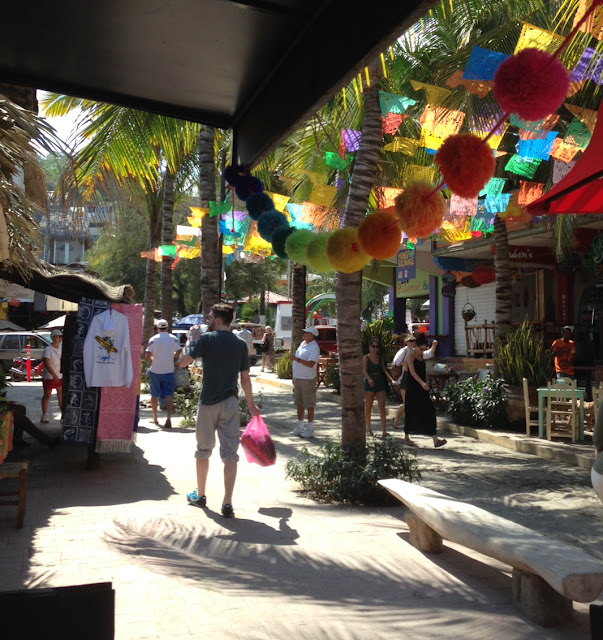 pom poms everywhere in Sayulita Mexico