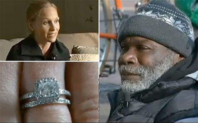 touching story of a homeless man who returned a lost diamond ring and got rewarded