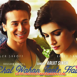 Chal Wahan Jaate Hain (Arijit Singh) Sargam Harmonium Notes - SarGaM