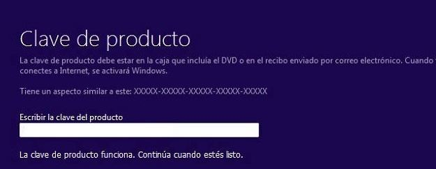 Clave para instalar Windows 10