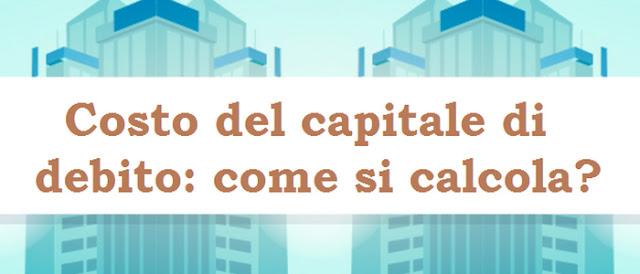 Costo del capitale di debito